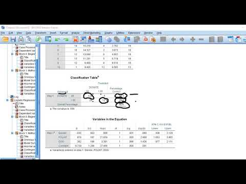 Binary logistic regression using SPSS (new)