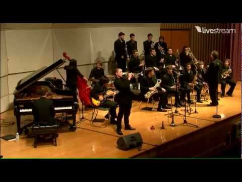 Ithaca College Jazz Ensemble plays Sweet Georgia Brown with Terell Stafford