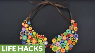 Summer paper crafts: How to make a quilling necklace