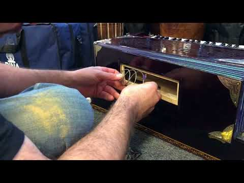 Switching springs in the bellows of a Paul & Co. Harmonium