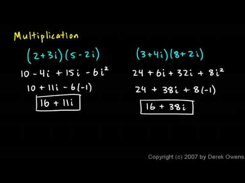 Algebra 2  4.4d - Complex Numbers, Part 4 - Mathematical Operations
