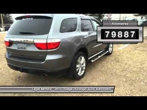 2013 Dodge Durango Legal Alberta FBT181A
