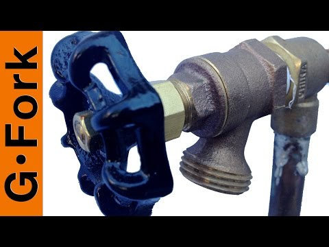 How To Repair A Dripping Outdoor Faucet Youtube