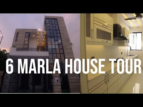 6 Marla House Tour With Latest A Interior Design 27 Ft X 50 Ft Double Storey House Youtube