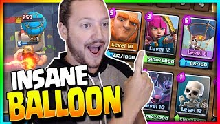 "INSANE NEW ""NO LEGENDARY"" BALLOON GIANT CYCLE DECK!! 3.1 FAST!! Arena 8 to Arena 11 - Clash Royale"