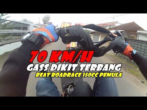 TESTRIDE WHEELIE BEAT ROADRACE 150CC PEMULA | SPEK GAHAR | FreestyleVLOG Indonesia