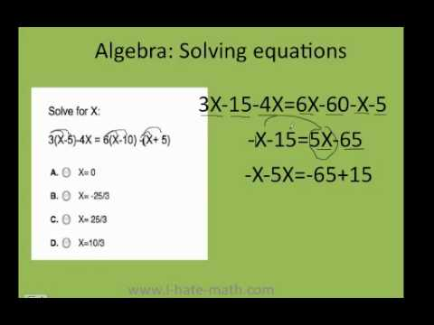 How To Solve Equations Pert Test Answers