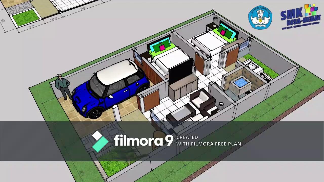 #01 Desain Interior Rumah Type 36 - YouTube