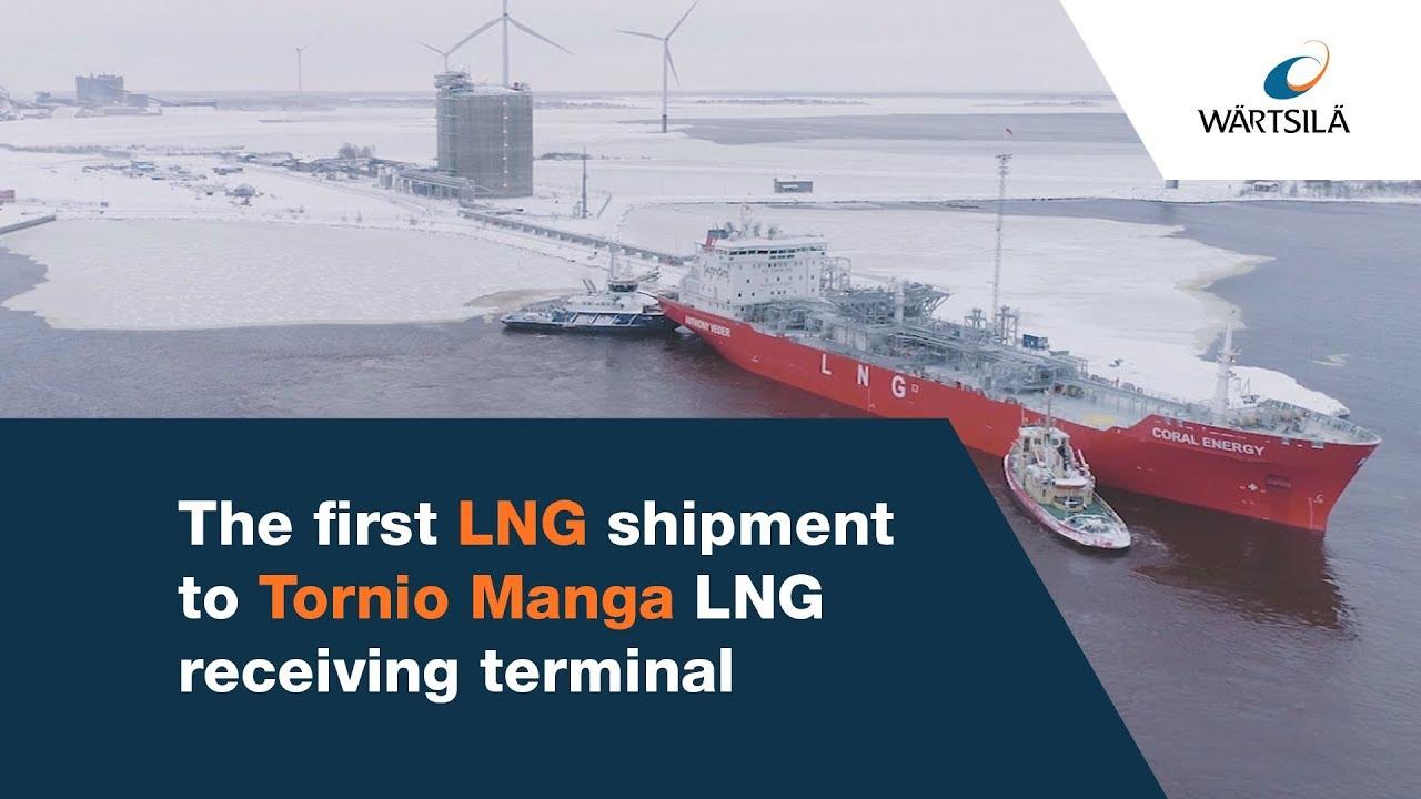 The first LNG shipment to Tornio Manga LNG receiving terminal | Wärtsilä