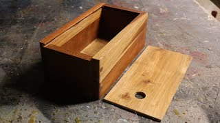 Make a Wooden Box With A Sliding Lid // And Dowel Joinery