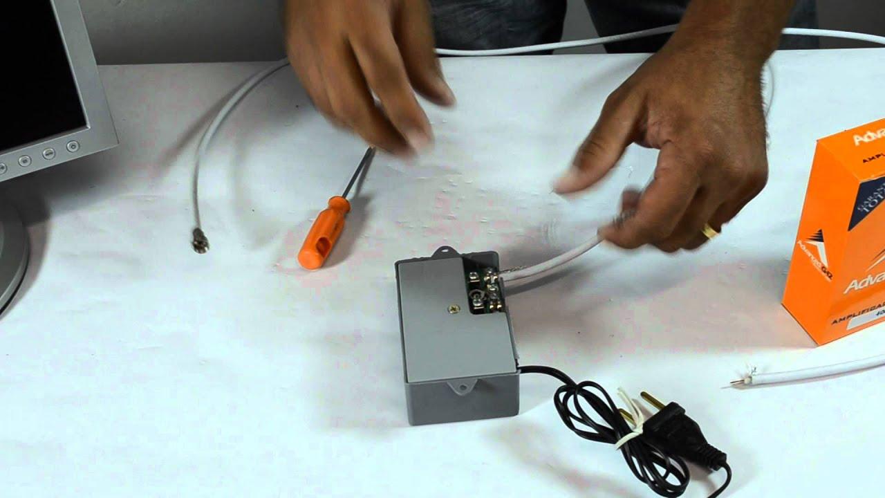 Amplificador de linha vhf uhf catv youtube - Amplificador de antena ...