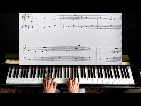 Brahms - Lullaby - Easy Piano Tutorial (Guten Abend, gute Nacht)