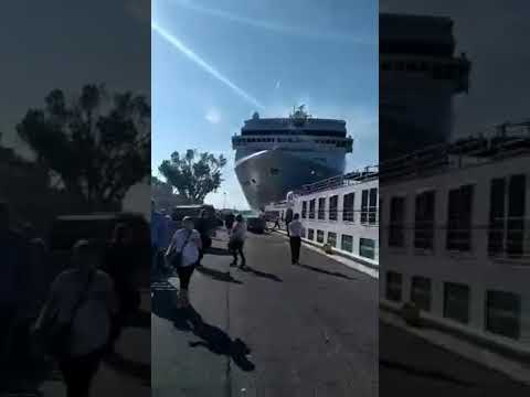 The Power Trip - Cruise ship out of control plows through....
