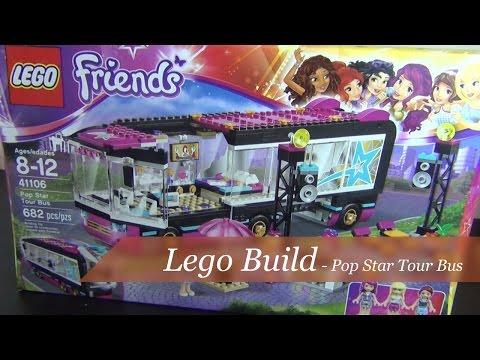 Let's Build - Lego Friends Pop Star Tour Bus Set #41106 - Part 1