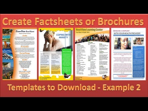Make Brochure - How to Make Brochures in Microsoft Word 2010