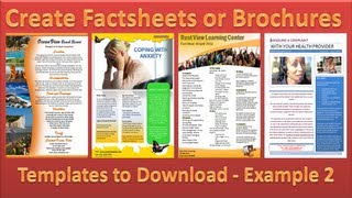 Make Brochure - How to Make Brochures in Microsoft Word 2010 - Single Page Example 2