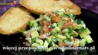 Sałatka z awokado, pomidorem i kolendrą