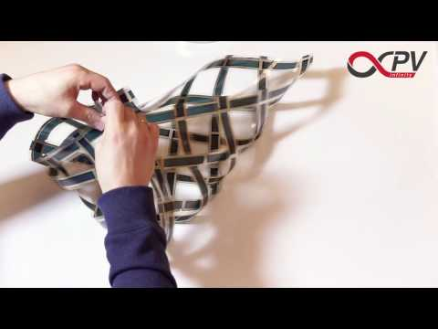 Woven flexible organic solar cells OPV - create 2D and 3D structures - Teaser