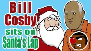 Bill Cosby Sits on Santa's Lap
