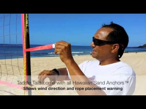 Hawaiian Sand Anchor By Pacific Ocean Dreams Beach Volleyball Net Set Up