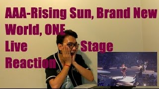 AAA - Rising Sun, Brand New World, ONE Live Stage Reaction (New Format)