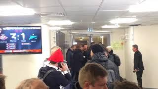 Ребров, Джикия и Ещенко с Дзюбой после матча Спартак - Зенит