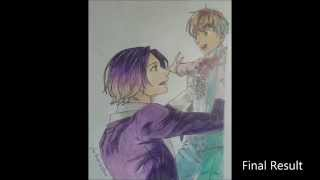 Drawing of Kevin Cecil and young William Twining (Makai Ouji)