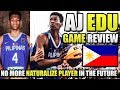 AJ Edu Game Review | 17 Year Old Gilas Prospect | Dunks, Handles, ETC. ᴴᴰ