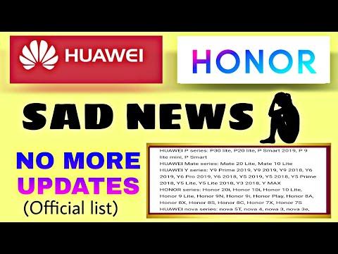 List Of Honor/Huawei Phones Not To Get Regular Updates In Future. Honor/Huawei No Regular Updates.