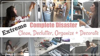 Ultimate Clean & Declutter With Me   Disaster Clean With Me \ Momma From Scratch