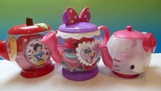 """3 Bộ Bình Trà """"  Hello Kitty"""" (Bí Đỏ) 3 Giant Tea sets Snow White, Minnie Mouse, HelloKitty"""