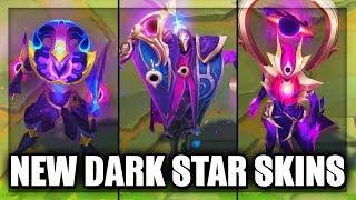 All New Dark Star Skins Legendary Dark Cosmic Jhin, Dark Star Karma & Shaco (League of Legends)