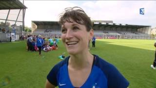 Finale de la Coupe du monde de foot militaire féminin France-Brésil