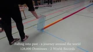 128,000 Dominos TrickShot | Dude Perfect Junior |
