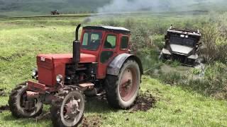Застрял Урал 6х6 даже 2 тракторам не Удалось Вытащить