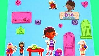 Disney Junior Doc McStuffins: Fuzzy Felt Clinic Playset Toy Review & Unboxing, John Adams