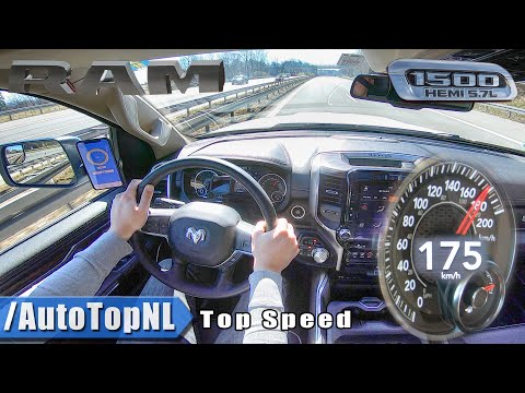 2020 RAM 1500 Laramie | TOP SPEED On AUTOBAHN (NO SPEED LIMIT) By AutoTopNL