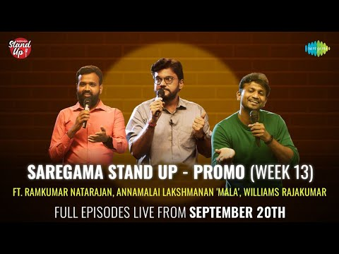 #Promo   Saregama Stand Up   A Comedy Show   Week 13   LIVE from September 20
