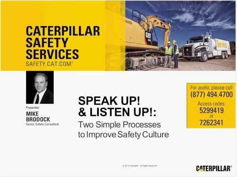 "Safety Webinar | ""Speak Up! Listen Up!"" | Improve Safety Culture"