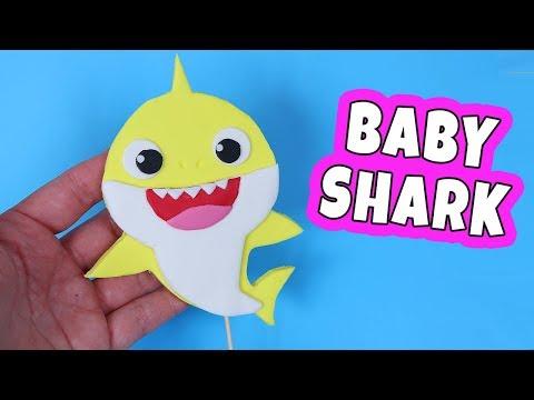 How To Make Baby Shark Fondant Cake Topper! Baby shark cake - YouTube