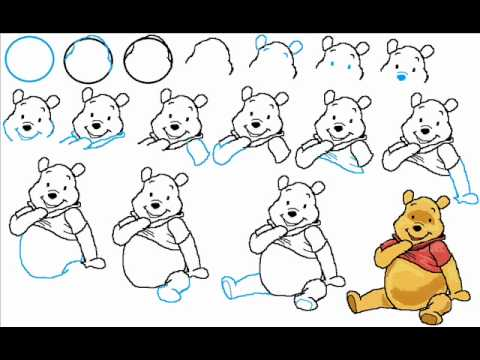 How To Draw Winnie The Pooh Bear Step By Step Drawing ...