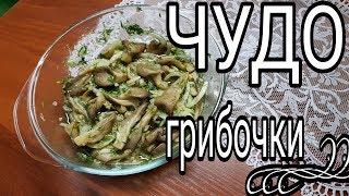Маринованные Вешенки /// Очень вкусные грибочки с чесноком и зеленью /// СУПЕР ЗАКУСКА
