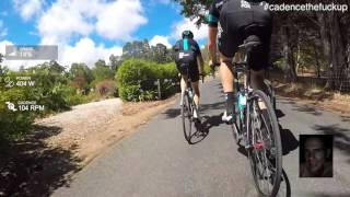 Chris Froome Training In Australia POV From Durianrider