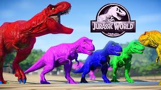 T-Rex Vs I-Rex Jurassic World Evolution Mods Dinosaurs Fighting - Tyrannosaurus Rex, Indominus Rex
