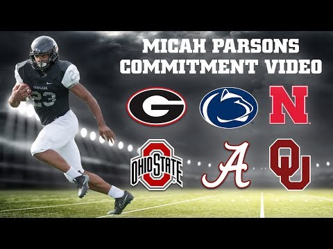 Micah Parsons Signing Day Commitment Video