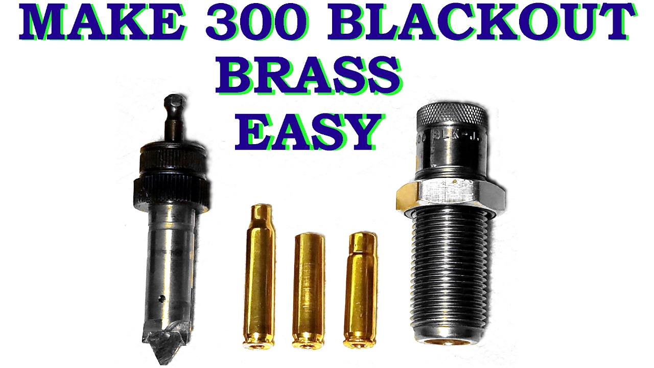 68c3aaa624c Make 300 Blackout brass easy with Lee Power Quick Trim - YouTube