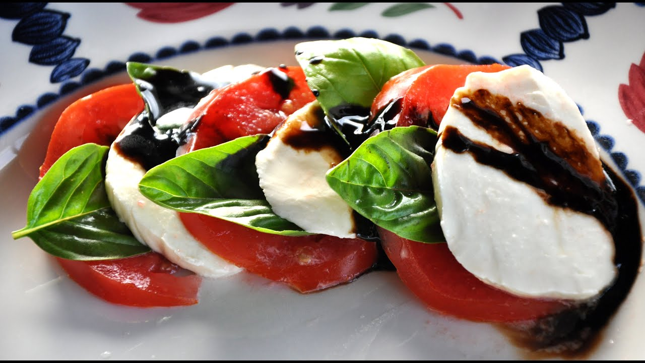 caprese salad recipe - How To Make Caprese Salad with Balsamic Reduction - YouTube