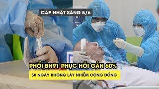Sáng 5/6: Việt Nam không có ca nhiễm virus corona mới, phổi BN91 phục hồi gần 60%