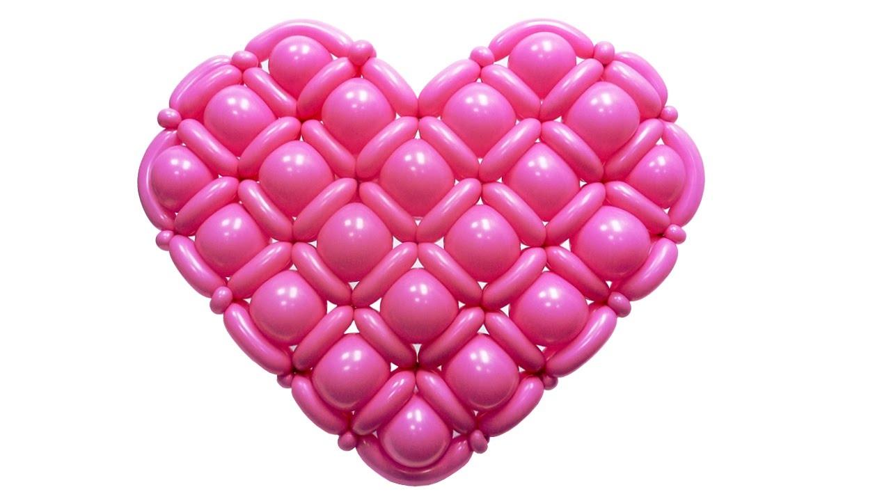 Сердце из шаров своими руками в картинках так