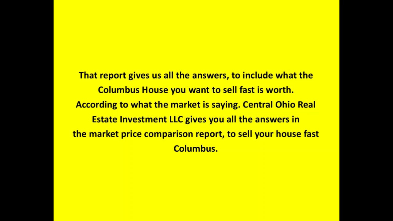 Sell Your House Fast Columbus-Ohio fast cash offer!